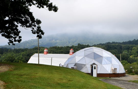 Eliada Farms' installed a geodesic grow dome on the property to teach and feed the children that live and receive services there.