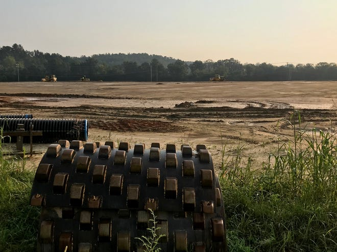 This 15-acre site on Fanning Fields Road in the Broadpointe Industrial Park is being graded for future use, but the site is still available.
