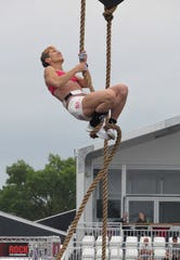 Battle Creek-area athlete Linda Elstun competes at the CrossFit Games in Wisconsin earlier this month.