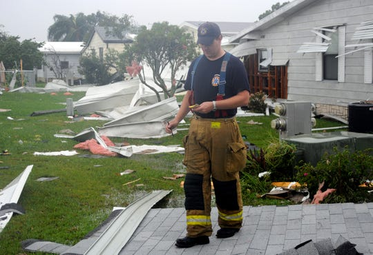 A tornado from Tropical Storm Fay touched down Aug. 19, 2008, in Barefoot Bay.