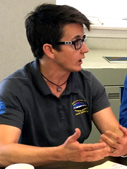 Megan Moir, director of the water division at Burlington Public Works, discusses wastewater treatment on Aug. 3, 2018.