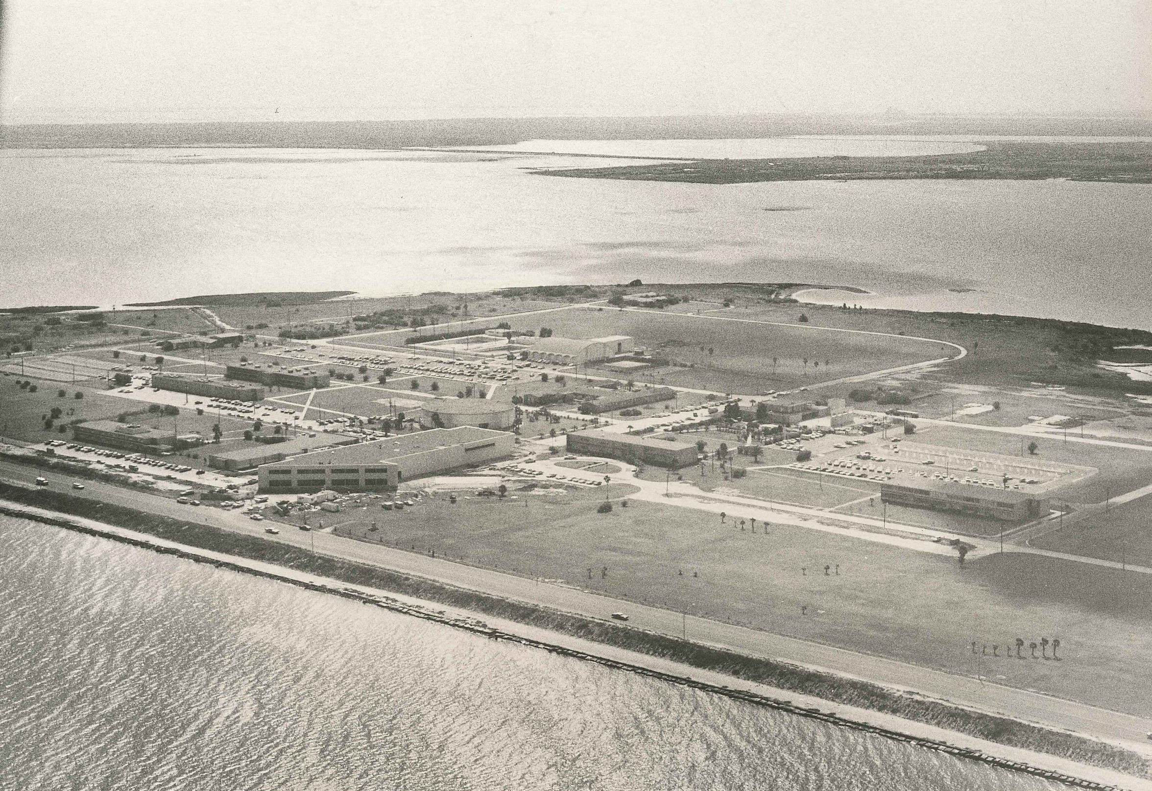 Ward Island, home of Texas A&I University at Corpus Christi in December 1975.