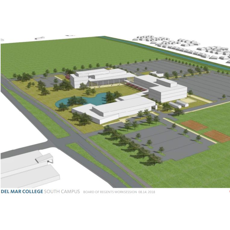 Del Mar College regents accept newest plans for southside campus