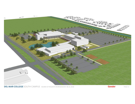 The new Del Mar College campus will be built at the corner of corner of Yorktown Boulevard and Rodd Field Road with funds from a $139 million bond package approved by voters in 2016.