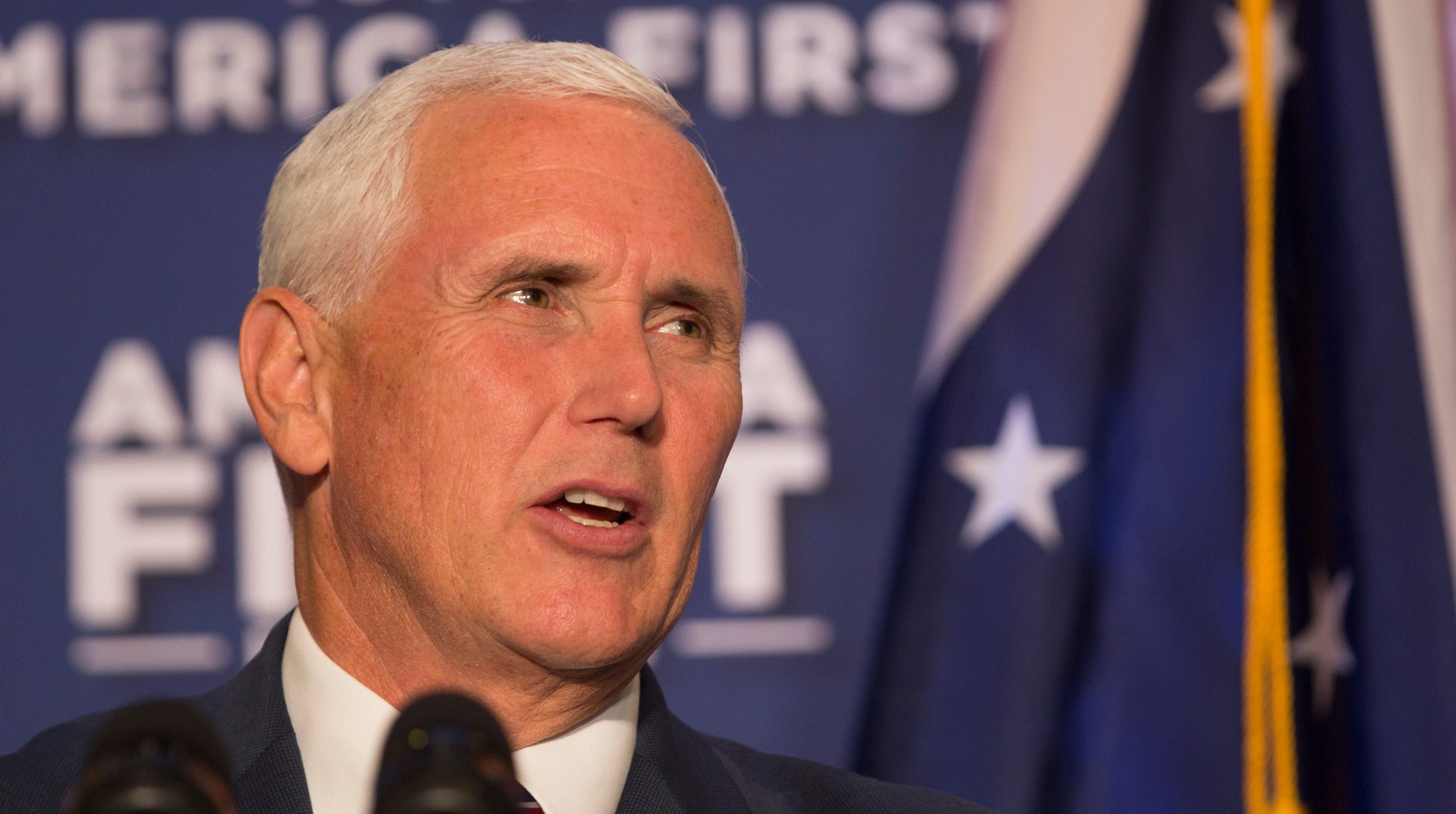 In Cincinnati speech, Vice President Mike Pence talks taxes and Trump, but not Omarosa