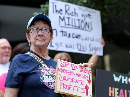 Protestors During Vp Pence S Cincinnati Visit Aug 14