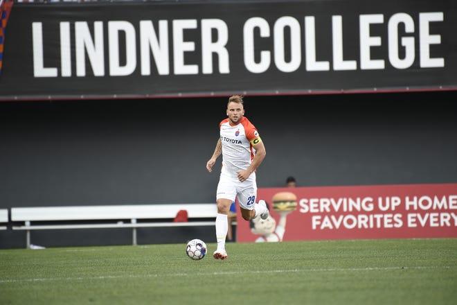 Paddy Barrett was FC Cincinnati's captain in the 1-0 win over Penn FC at Nippert Stadium.
