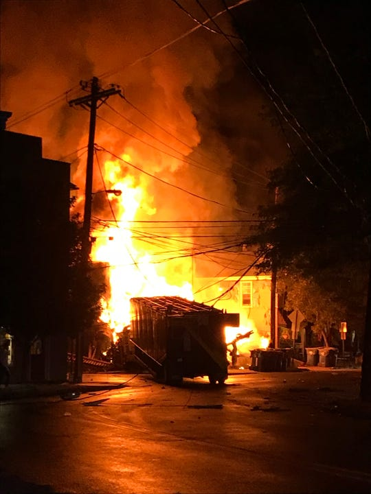 A late-night truck accident in Frenchtown resulted in a massive fire that destroyed buildings.