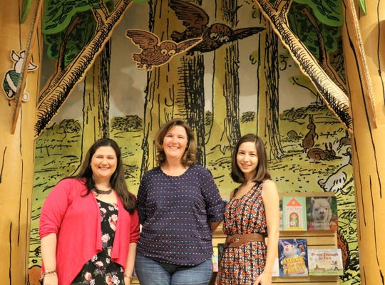 From left to right: Nicole Mancini, Oona Abrams and Julia Guthrie at the Barnes & Noble in Bridgewater.