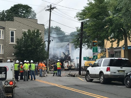A fire destroyed Galasso's Pizzeria in Frenchtown after a truck crashed into the building Monday night, sparking a large fire.