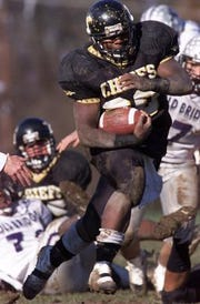 Devraun Thompson starred at running back and linebacker for Piscataway's 2002 sectional championship team.