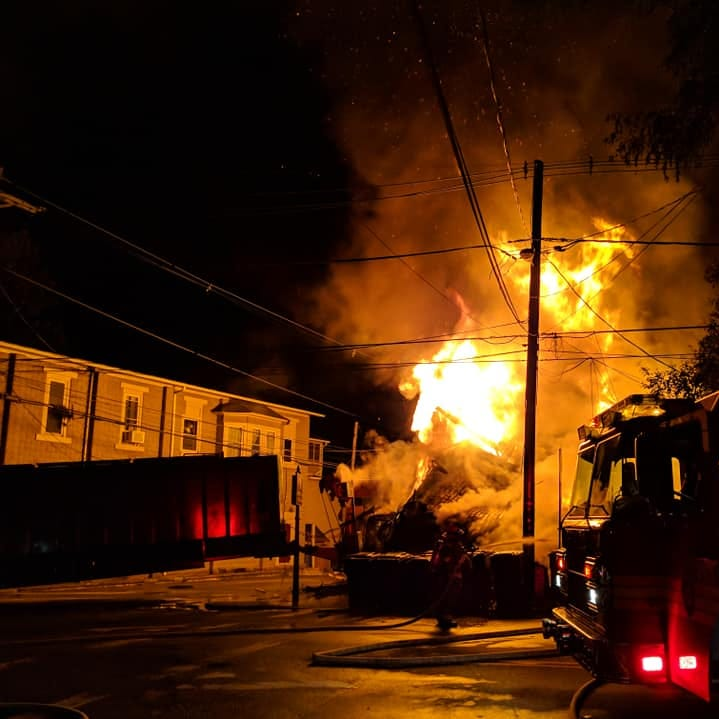 WATCH: Frenchtown fire, caused by truck accident, destroys buildings