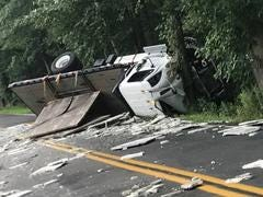 One person was injured in a crash that has left Broadway Road from Friendship Road to Miller Road closed, South Brunswick Police said in a community notification.