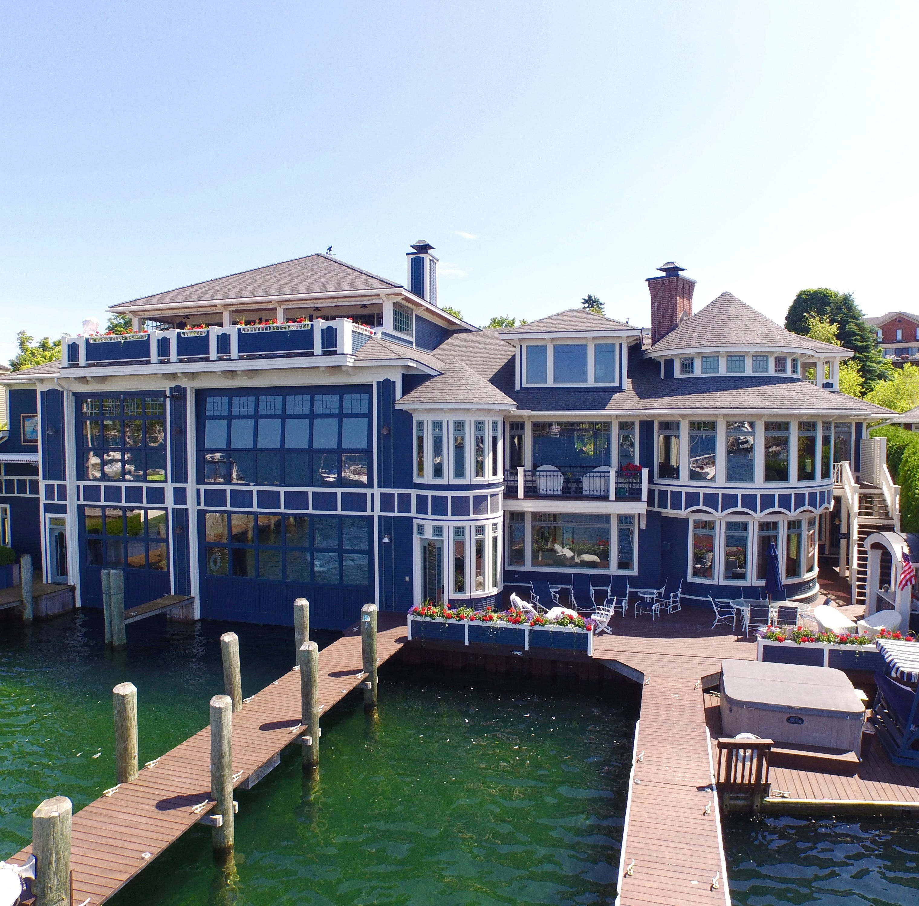 This $6.8M Charlevoix estate has insane boathouse, lakefront views