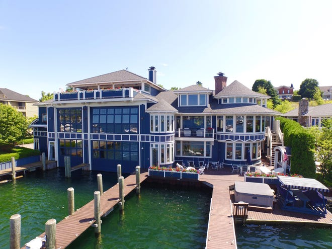 This Charlevoix mansion is on the market for $6.8-million and offers views of Round Lake.