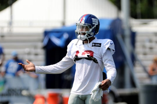 Giants wide receiver Odell Beckham Jr. participates in practice during in training camp on Tuesday, Aug. 14, 2018, in Allen Park.