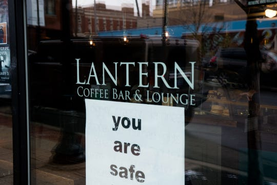 One reviewer compared Lantern Coffee Bar and Lounge in Grand Rapids to an old college library. Another said the coffee is always great.