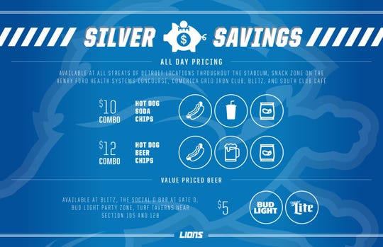 The Silver Savings at Ford Field for the 2018 season./