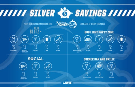 The Power Hour savings at Ford Field for 2018