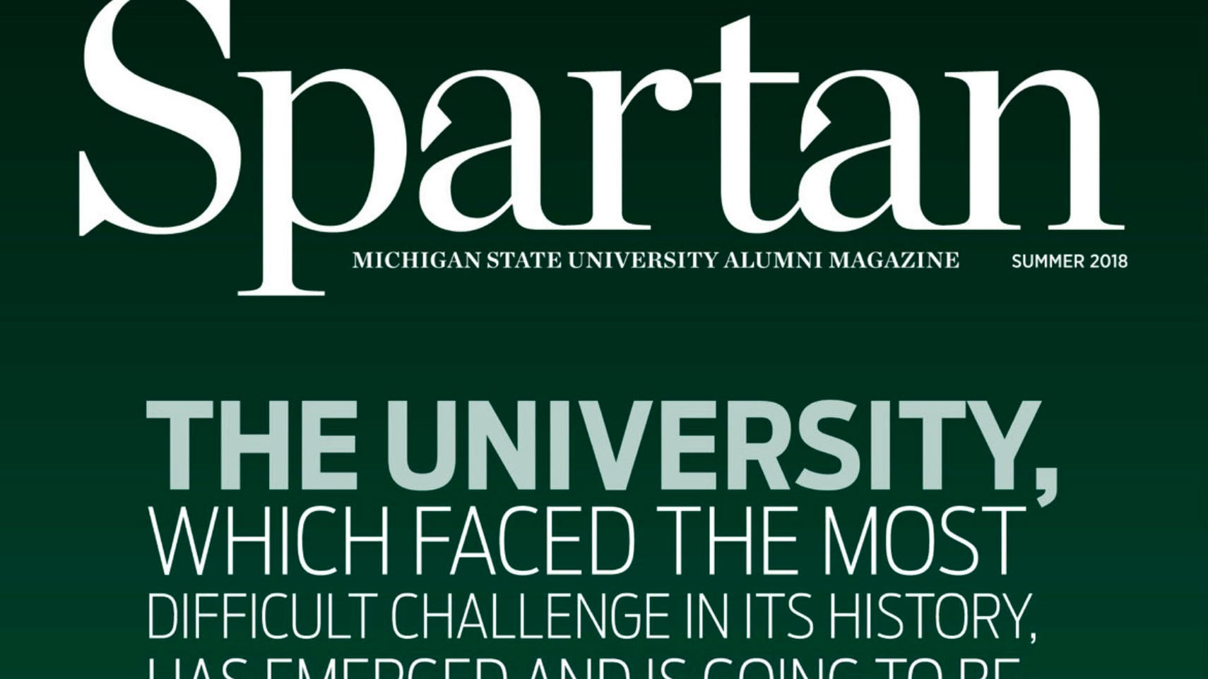 MSU alumni magazine takes the cheery route despite Nassar scandal
