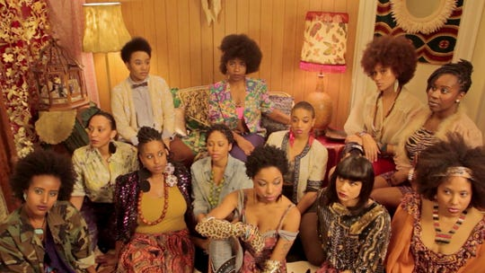 """A still image from the film, TheeSatisfaction """"QueenS""""  in 2012. Directed by dream hampton."""