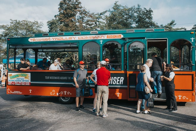 Trolleys will carry Hagerty Insurance customers and a few walkups in the Woodward Dream Cruise Saturday.