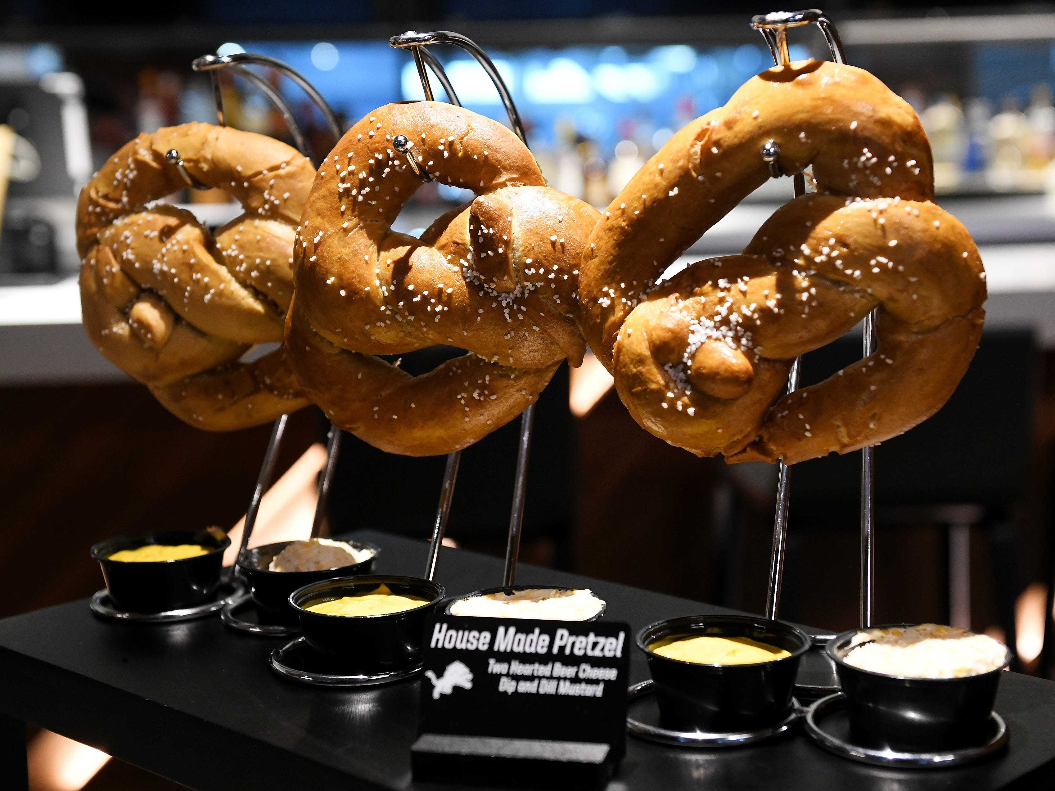 House made pretzels with Two Hearted beer cheese and dill mustard.