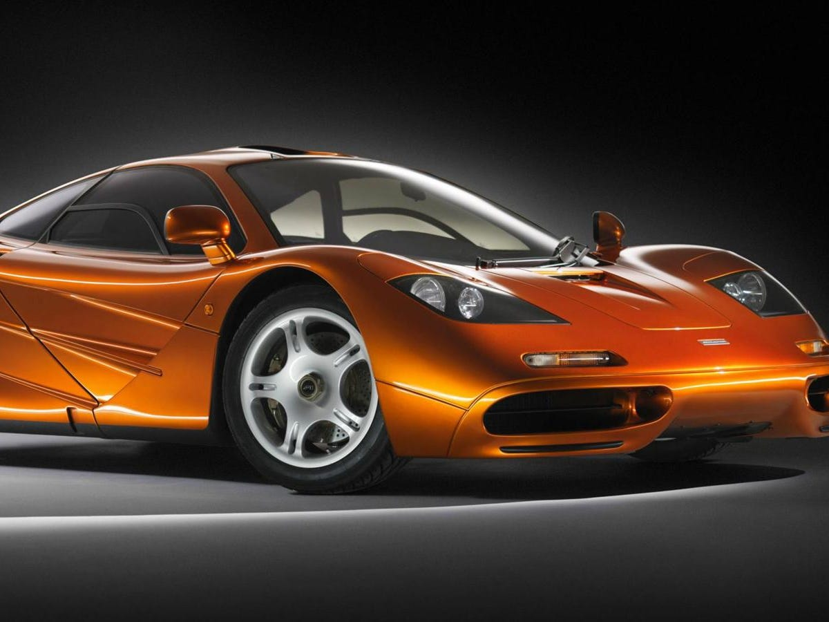 The legendary,1992 McLaren F1 birthed a family of production cars from the Formula 1 racing company. Its 231-mph top speed was unprecedented, but only 106 were built. Expect to pay north of $10 million for one.