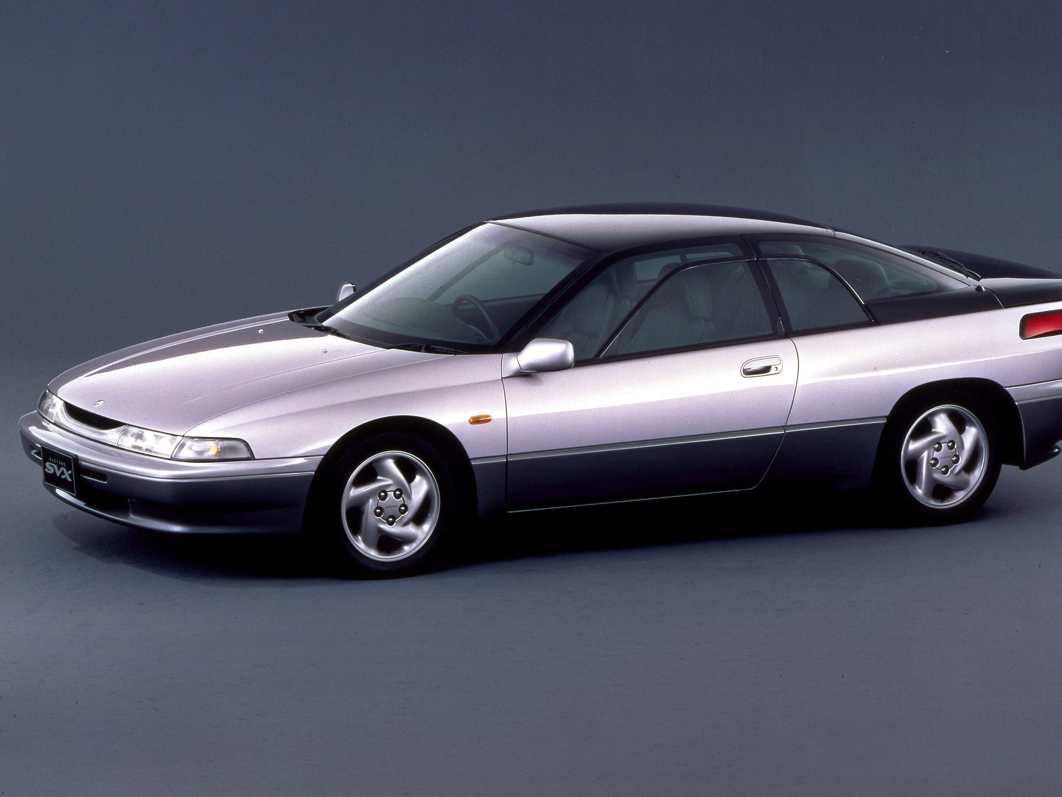 "The sleek, 1992 Subaru SVX innovated the ""window-within-the-window,"" which allowed passengers to roll down an embedded pane and not get wet in a rainstorm. Its AWD system received raves, but the hefty, $45K price tag was outside the comfort zone of Subie customers."