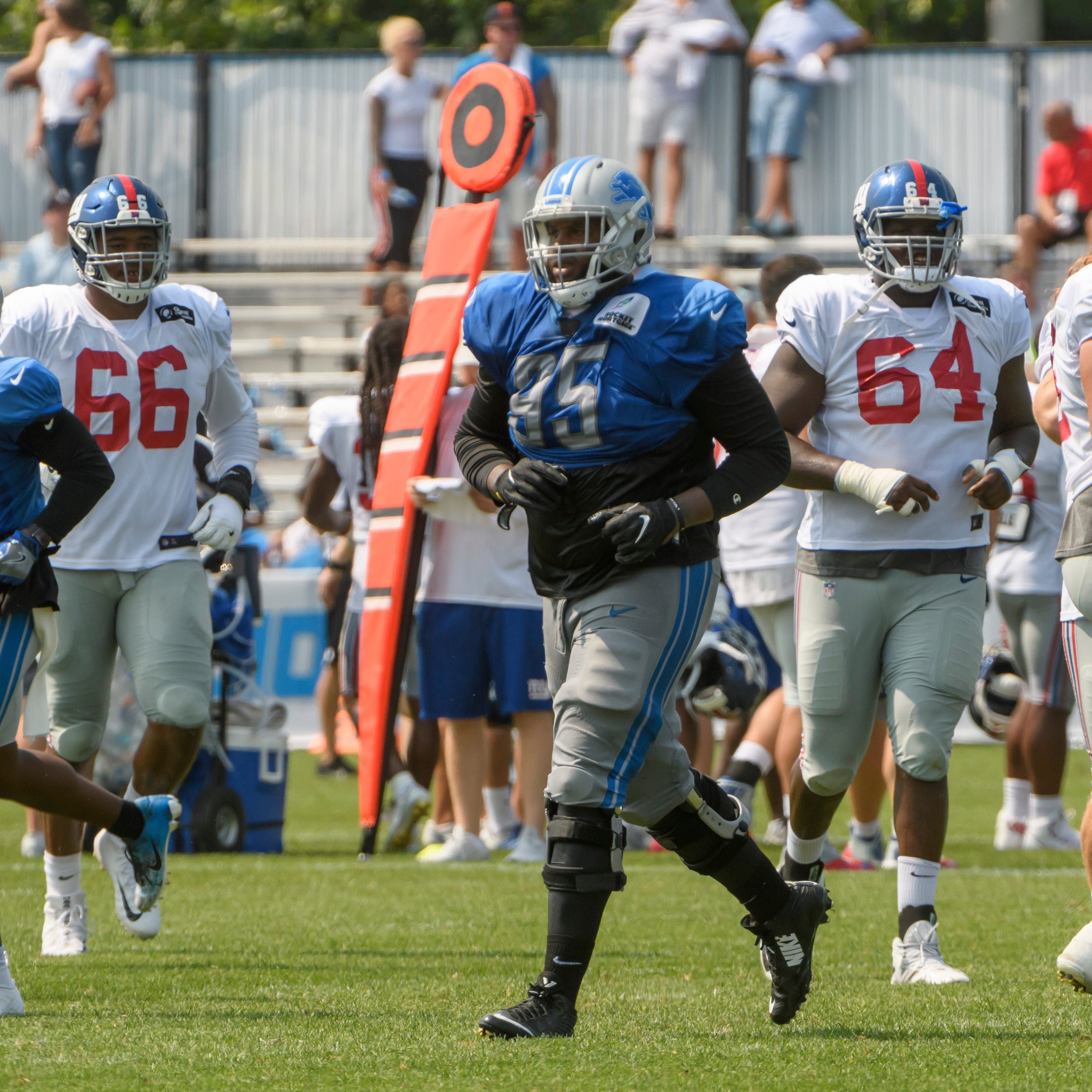 Lions camp observations: D-line looks better vs. Giants