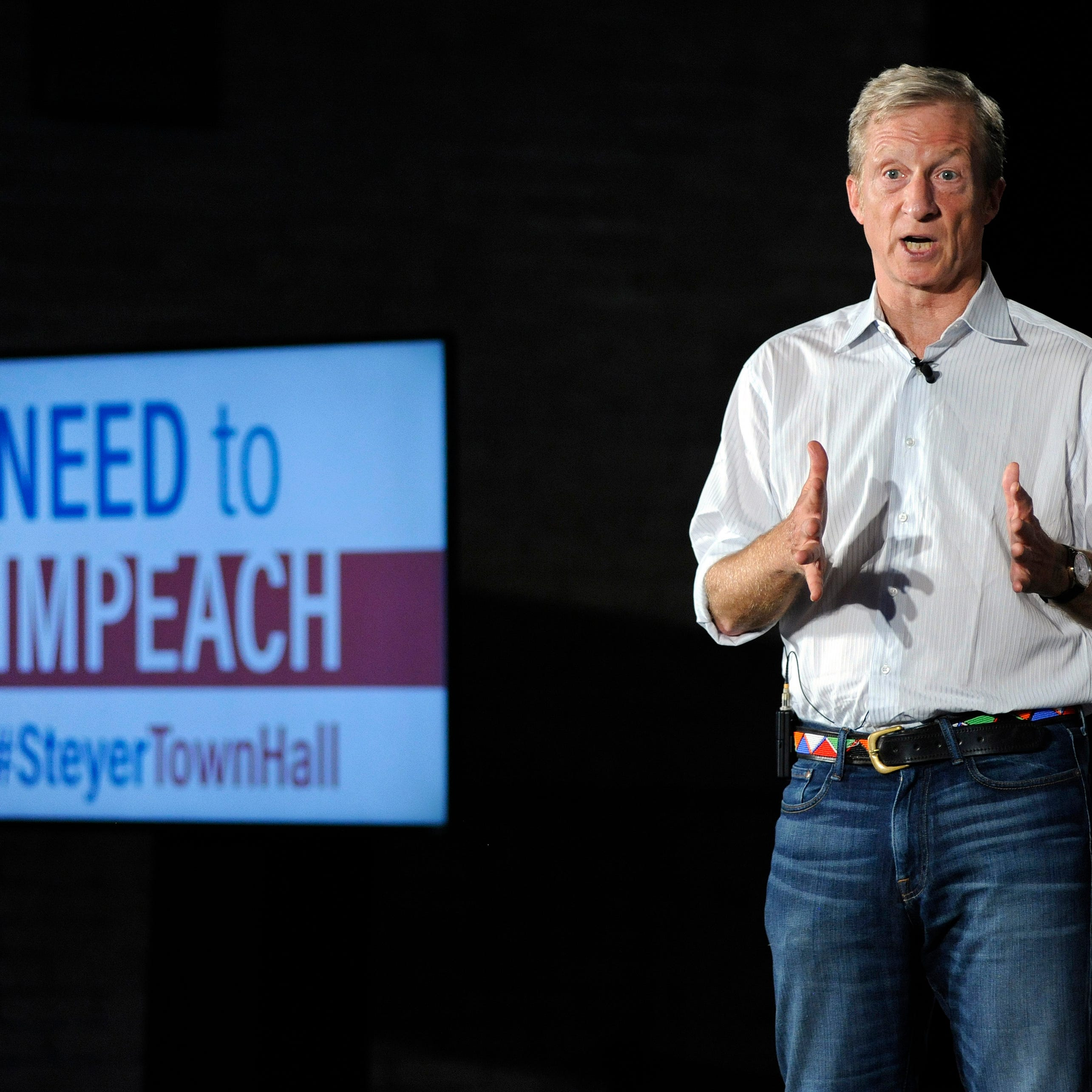 Steyer touts Trump impeachment, midterm vote in Detroit town hall