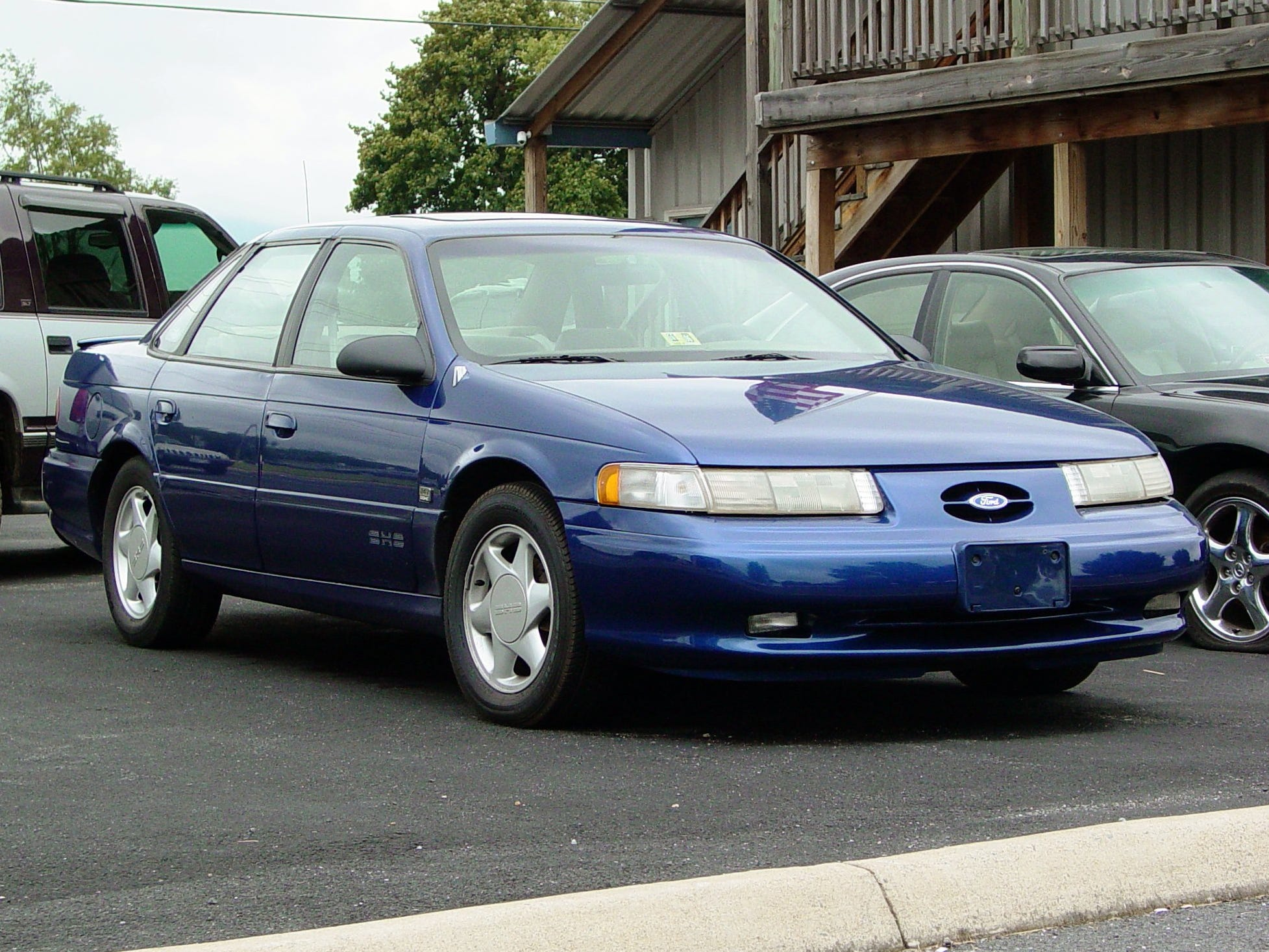 The last purist's SHO (short for Super High Output), the 1992 Ford Taurus no longer was offered exclusively as a manual. It now came in automatic, too.  Ford stuffed the engine bay with a snorting 220-horse, Yamaha-developed V-6 that hit 60 mph in less than seven seconds.