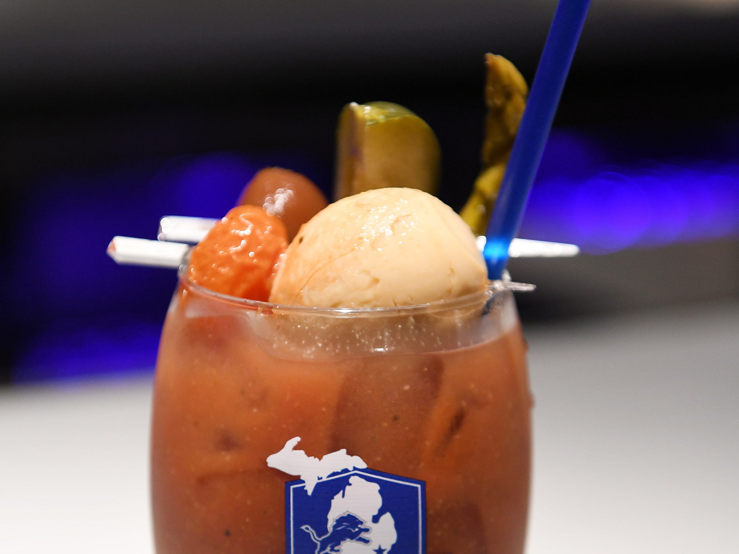 The Michigan Mary, a twist on a Bloody Mary.