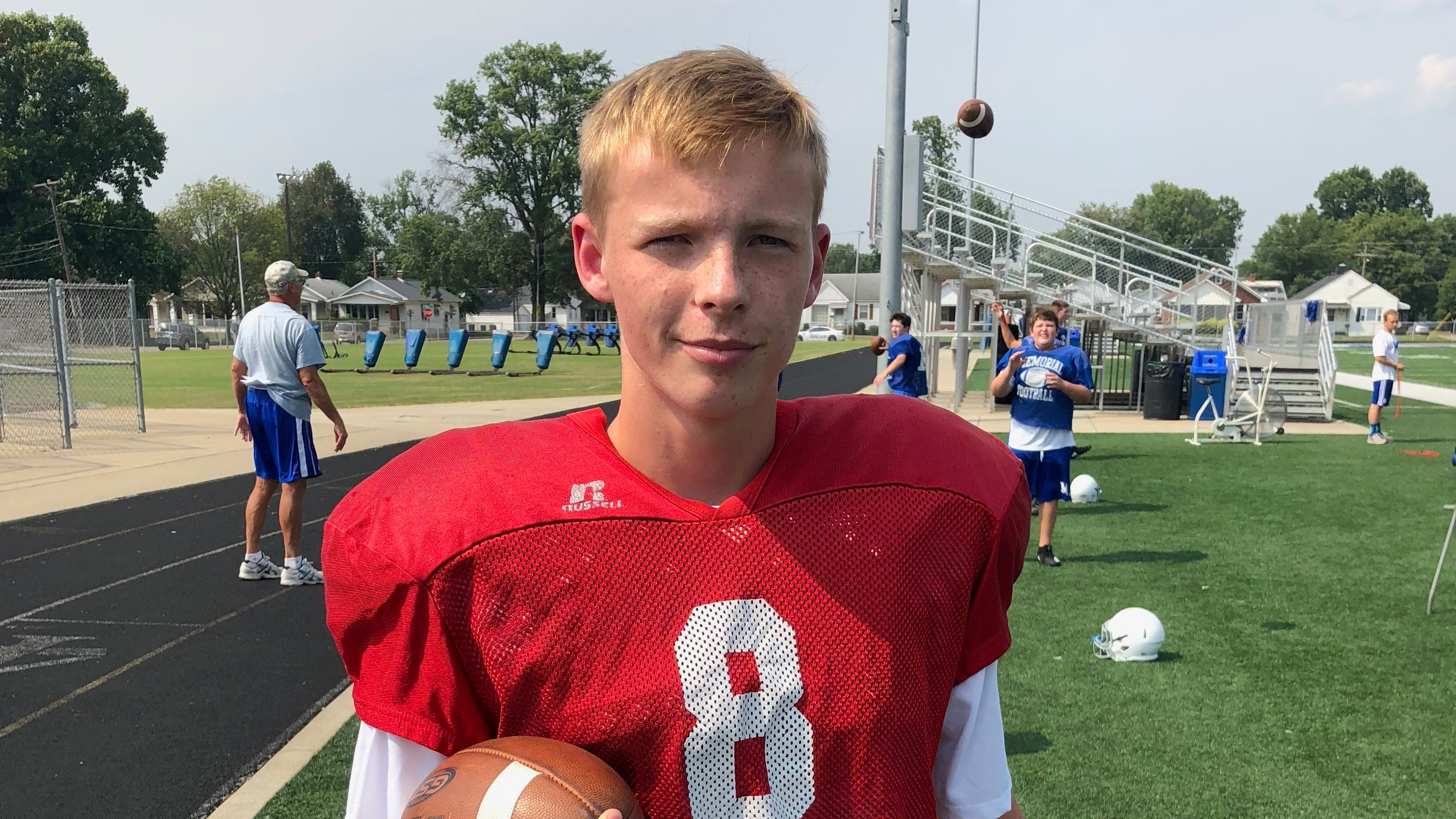 Memorial QB, an exchange student from Iceland, lives with coach's family | Lindskog