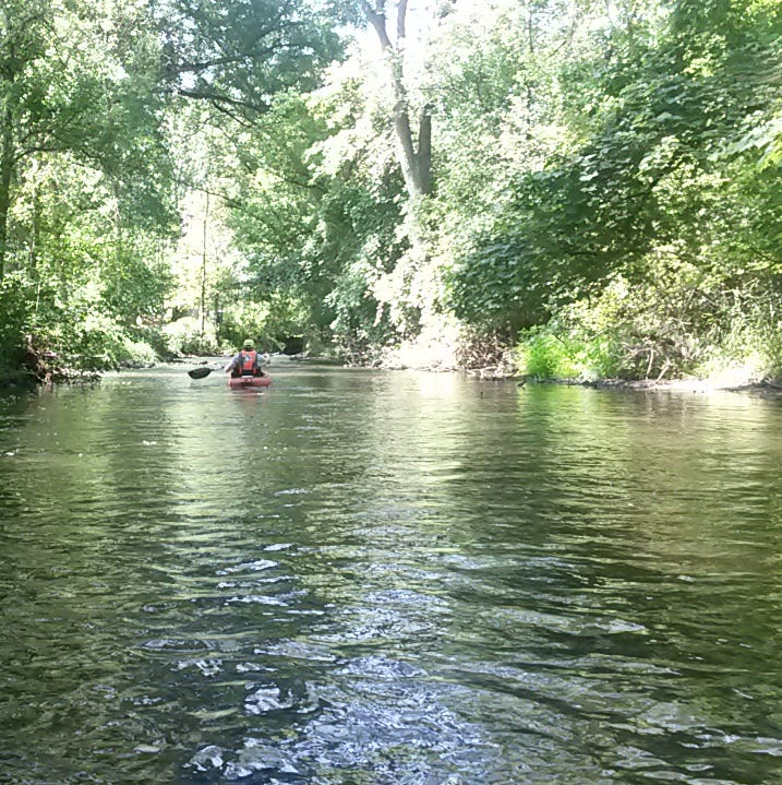 One of our favorite adventures is a short paddle on Rock River in Waupun. We often will launch from the Tebeest Trail and make our way to the Forest Mound Cemetery.