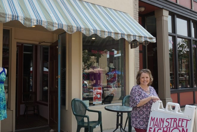 Julie Day-Willey, owner of Main Street Fashion, loves her small-scale store because it forces her to retain high quality but allows her to keep her prices low.