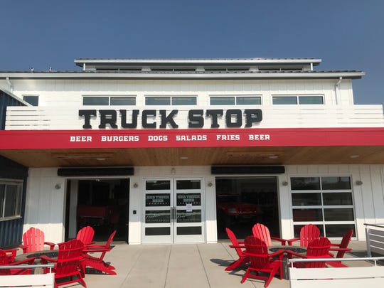 Red Truck Beer is a Fort Collins brewpub with counter service of burgers, hot dogs and all-day breakfast.