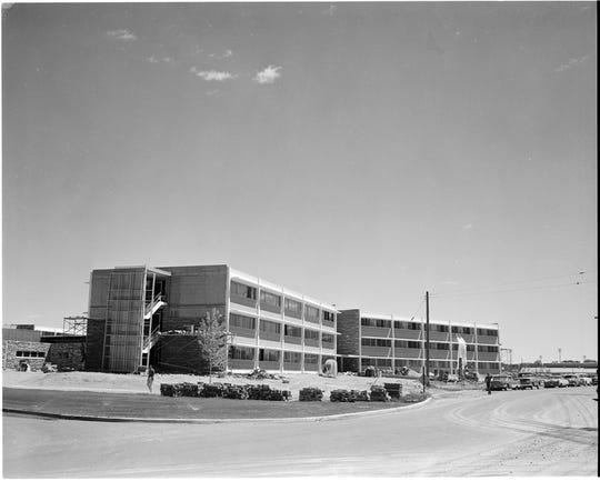 Braiden Hall, pictured here in 1963, was named for Wade Braiden, a Colorado Agricultural Student who died in 1928.