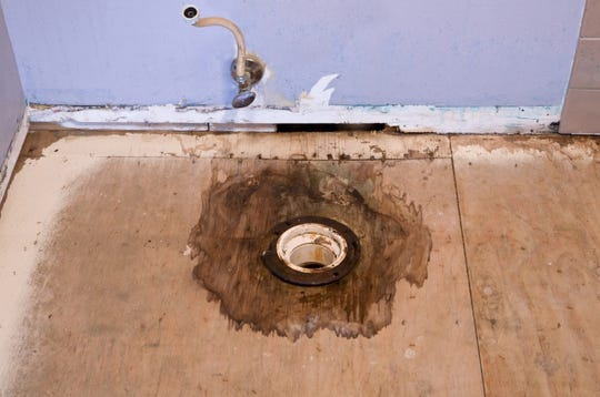 A leaking toilet can damage a bathroom floor — including the subfloor — and create a costly remodeling job.