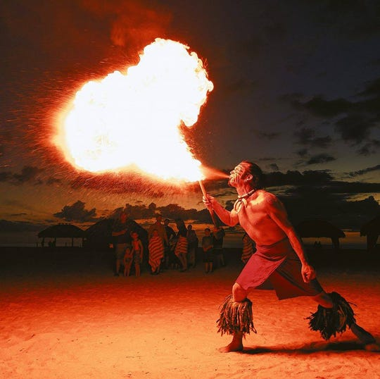 Fire performer Garrett Foster will appear in Circus TransformUS at Broadway Palm.