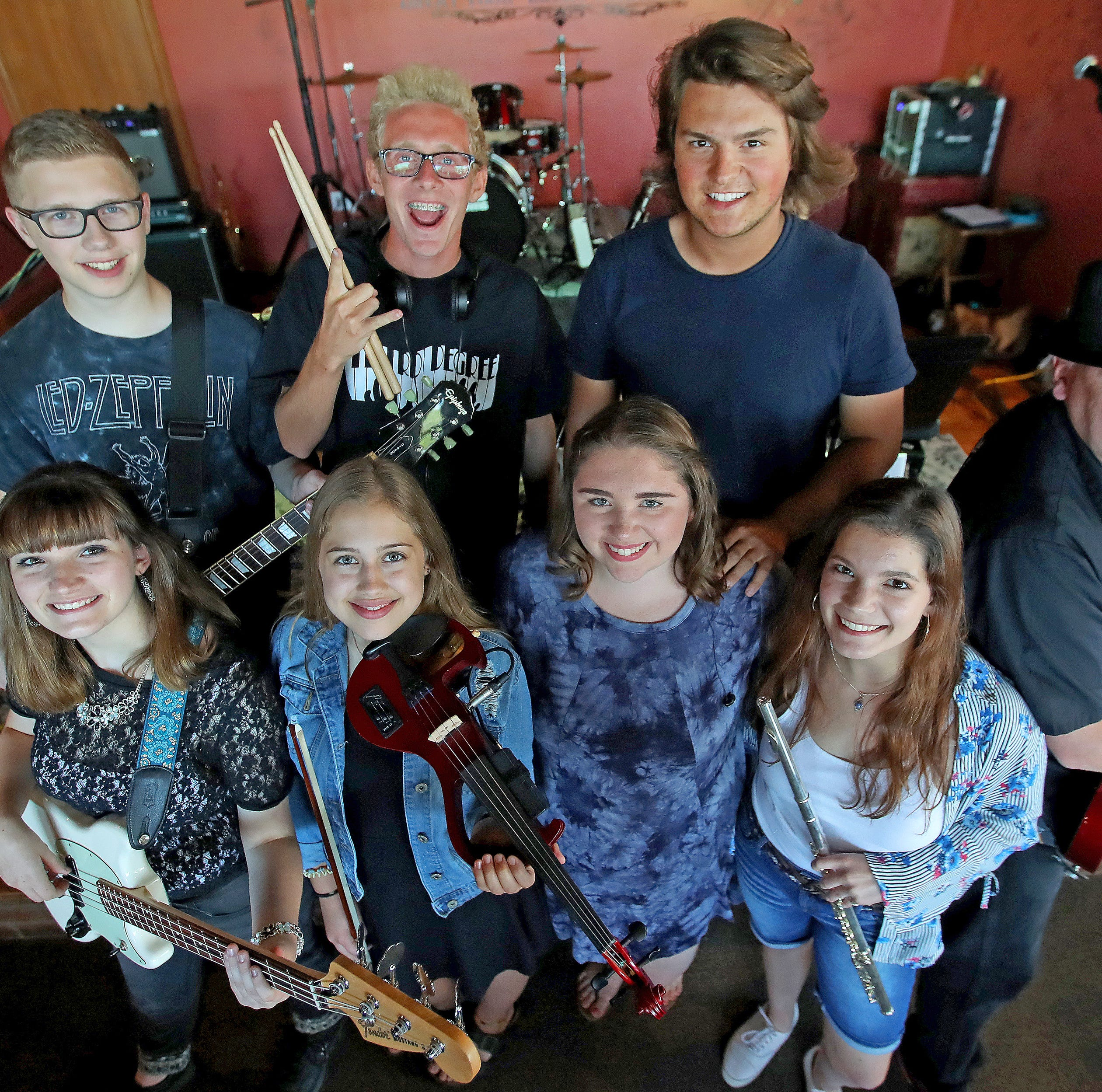 Ashwaubenon's Third Degree band is 'School of Rock' come to life -- Dewey Finn and all