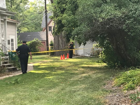 Green Bay Police investigate a shooting near the 800 block of East Walnut in Green Bay on Aug. 14.