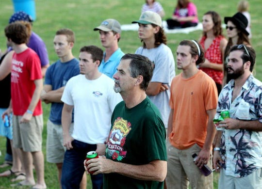 A crowd gathers to watch the Marcus King Band perform during the 35th annual Spittoono Festival in Central last year