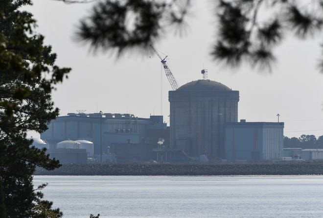 The V.C. Summer nuclear power plant in Jenkinsville on Lake Monticello.