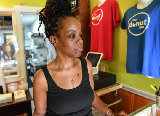 "Crystal and Shaun Paulk own The Donut Guy shop, a tiny space along South Congress Street in the heart of downtown Winnsboro. ""What's going to happen to them, that's bigger than who's going to buy my next donut,"" Crystal Paulk said."