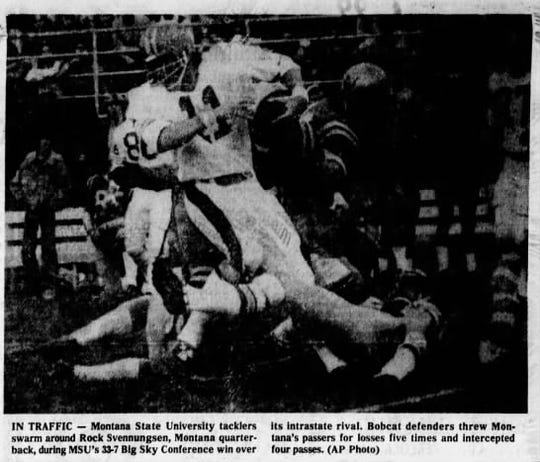 Rock Svennungsen was a star athlete at Shelby before playing quarterback for the Montana Grizzlies.
