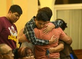 Xavier Akima, 15, is mourned by family and friends during a Mass at Our Lady of Lourdes Church, Aug. 14, 2018.