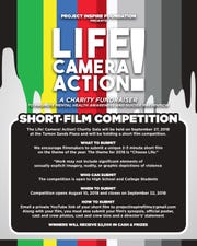 Student filmmakers can enter submissions to the Life! Camera! Action! Charity Gala short-film competition.