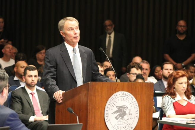 Mayor Joe Hogsett introduced his 2019 budget to the City-County Council on Monday.