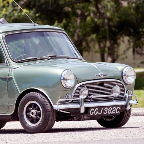 You can buy Paul McCartney's Mini Cooper in an Indiana auction